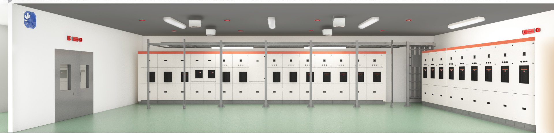 FirePro total flooding system design for electrical room
