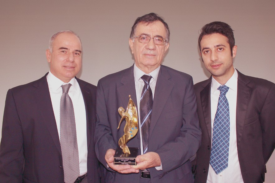 From left to right: Mr. Vakis Ioakim (Quality Manager), Mr. Andreas Charalambous (Operations Manager), and Mr. Antonis Panayiotou (Quality Controller)